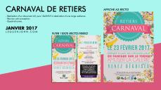 Plaquette Carnaval Retiers '17 | Jan. 2017