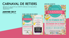 Plaquette Carnaval Retiers '17   Jan. 2017