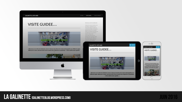 Site web LA GALINETTE   Juin 2016