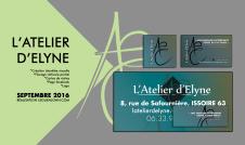 Plaquette L'Atelier d'Elyne | Oct. 2016