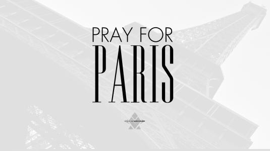 Wallpaper - « Pray For Paris » by LE GUEN JOHN Collection