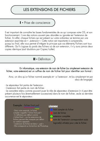 Page 1 - Les Extensions de fichiers
